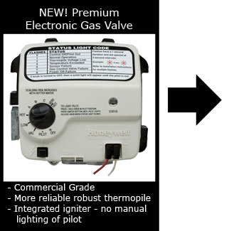New Premium Electronic Gas Valve for Whirlpool Gas Water Heaters
